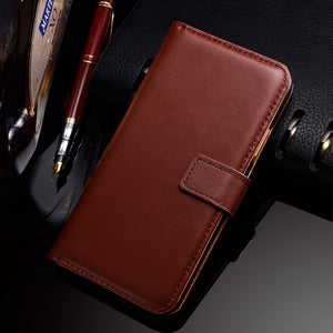 Phone Case - Luxury Leather Wallet Case For iPhone X