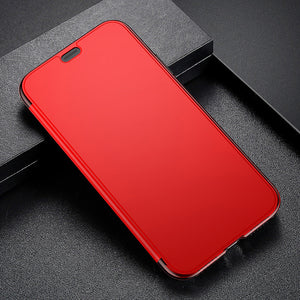 Phone Case - Luxury 360 Full Body Protective Slim Flip Case For iPhone X