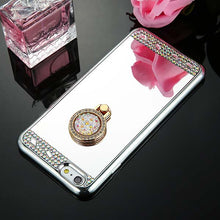 Load image into Gallery viewer, Phone Case - Luxury Diamond Soft TPU Crystal Case With Ring Holder For iPhone
