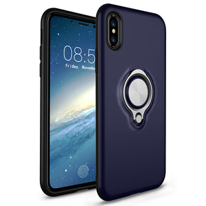 Phone Case - Ultra Thin TPU+PC Protective Magnet Back Cover For iPhone X