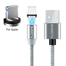 Load image into Gallery viewer, Charger Cable - Ultra Fast LED 3 in 1 Magnetic Cable For iPhone And Samsung Phones
