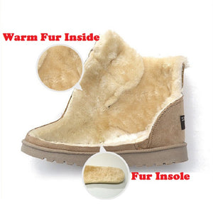 Women's Shoes - Winter Warm Fur Lady's Ankle Boots