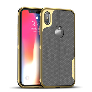 Phone Case - Luxury 2 in 1 Shockproof Plating Case For iPhone X 8 7 6 6S Plus