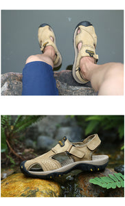 Men's Shoes - Summer Outdoor Beach Genuine Leather Sandals