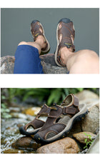 Load image into Gallery viewer, Men's Shoes - Summer Outdoor Beach Genuine Leather Sandals