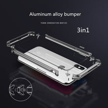 Load image into Gallery viewer, Phone Case - Luxury Shockproof Metal Aluminum Bumper + Clear Back Cover For iPhone X