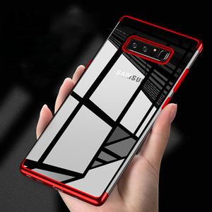 Phone Case - Plating Soft TPU Ultra Thin Phone Case For Samsung Note8 S9 S9 Plus S8 S8 Plus S7 S7 Edge