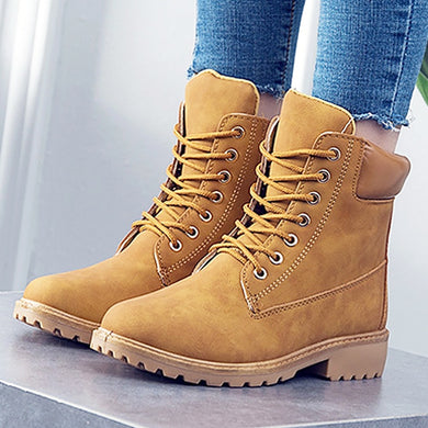 Women's Shoes - New Fashion Ladies Handmade Leather Ankle Boots