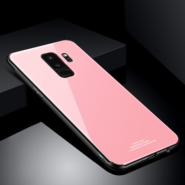 best sneakers 33f43 77342 Phone Case - Luxury Tempered Glass Back Cover Case For Samsung S9 S9 Plus  S8 S8 Plus Note8