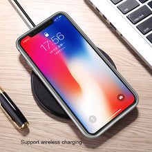Load image into Gallery viewer, Phone Case - Metal Built-in Magnetic Flip + Tempered Glass Back Cover Case For iPhone X 8 7 6 6s Plus