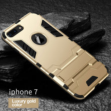 Load image into Gallery viewer, Phone Case - Luxury Shockproof Armor Back Cover For iPhone X 8 7 6 6s Plus