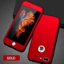 Load image into Gallery viewer, Phone Case - Luxury 360 Protective Case With Tempered Glass For iPhone 8 7 6 6s Plus