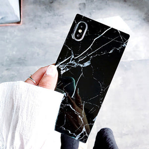Phone Case - Fashion Marble Texture Pattern Soft TPU Silicone Case For iPhone X 8 7 6 6s Plus