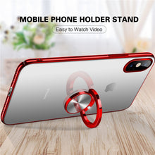 Load image into Gallery viewer, Phone Case - Electroplating Clear PC Case With Glitter Ring For iPhone X 8 7 6 6S Plus