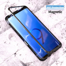 Load image into Gallery viewer, Phone Case - Metal Built-in Magnetic Adsorption + Glass Back Cover For Samsung S9 S9 Plus S8 S8 Plus Note 8 S7 S7 Edge