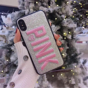 Phone Case - Fashion Glitter Embroidery Leather Case For iPhone X XR XS XS MAX 8 7 6 6S Plus