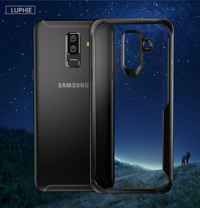 Phone Case - Transparent Shockproof Armor Case For Samsung Galaxy S10 S10e S9 S8 Plus Note 8 9