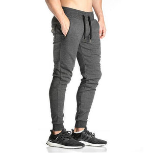 Men's Sportswear - Casual Elastic Cotton Mens Fitness Workout Pants