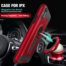 Load image into Gallery viewer, Phone Case - Shockproof Armor Magnetic Kickstand Case Cover For iPhone X 8 7 6 6S Plus