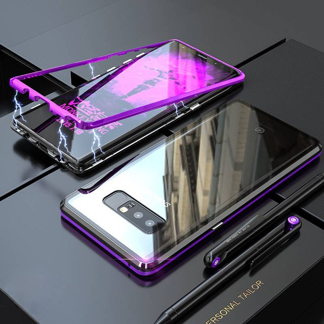 new product fb7b2 994eb Phone Case - Luxury Metal Shockproof Magnetic Case For Samsung S8 S8 Plus  S9 S9 Plus Note 8 Note 9