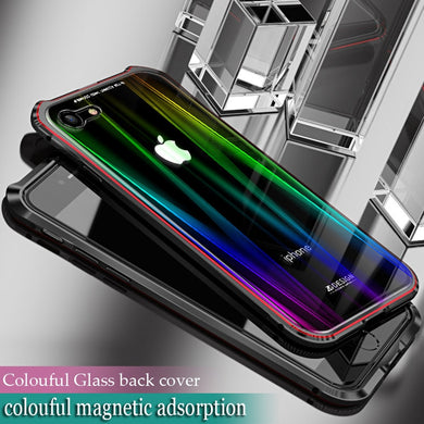 Phone Case - Luxury Bling Shockproof Metal Aluminum Megnetic Case Cover For iPhone X 8 7 Plus