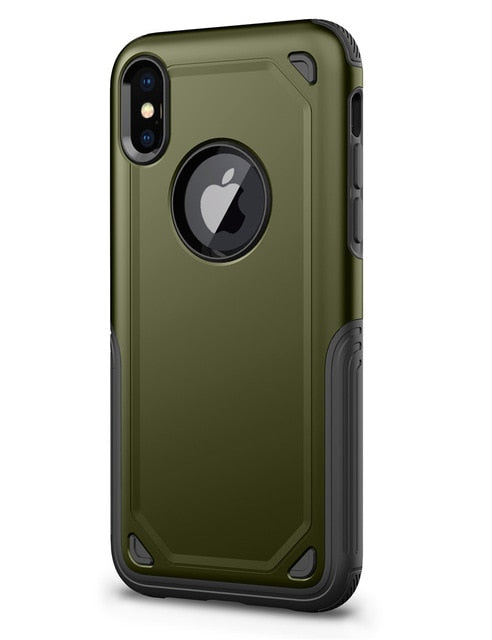 Phone Case - Military Anti Shock Camouflage Armor Case For iPhone X XR XS XS MAX 8 7 6 6S Plus