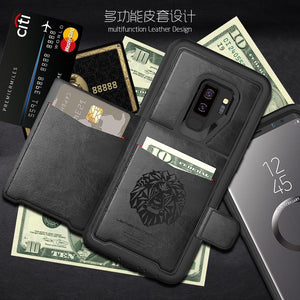Multi Functional TPU Leather Wallet Flip Case Cover For Samsung Galaxy S9 S9 Plus Note 9