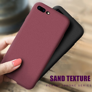 Phone Case - Ultra-Thin Sandstone Matte Soft Cover Case For iPhone X XR XS MAX 8 7 6 6S Plus