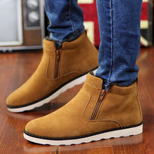 Load image into Gallery viewer, Men's Shoes - Winter Warm Short Plush Zipper Casual Shoes