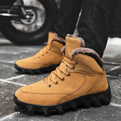 Men's Shoes - Outdoor Winter Warm Comfortable Anti Skid Ankle Boots