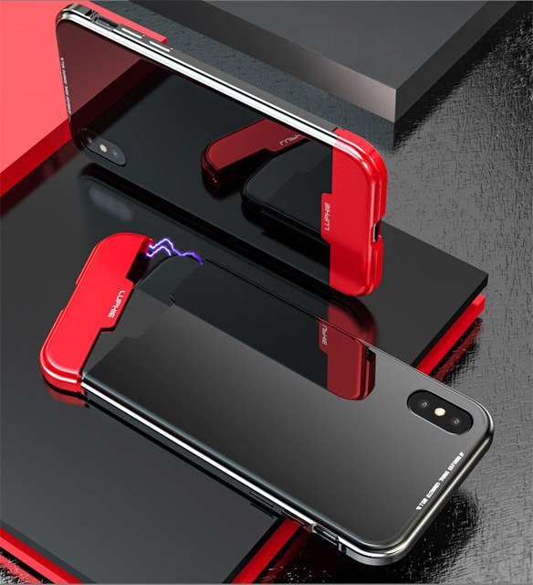 Phone Case - Luxury Shockproof Aluminum Metal Bumper Magnetic Case For iPhone X XS XS Max