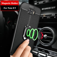 Load image into Gallery viewer, Phone Case - Shockproof Rugged Soft Silicone Case With Magnetic Ring Bracket & Strap For Samsung Note9 Note8 S10 S10 Plus S9 S9 Plus S8 S8 Plus