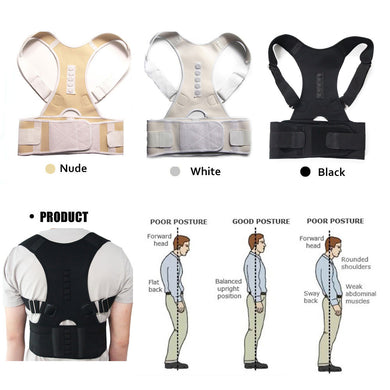 Unisex Adjustable Magnetic Posture Corrector Belt