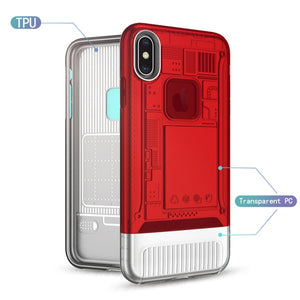 Phone Case - Colorful Hybrid Armor Cover Case For iPhone X XS XS Max XR 8 7 6 6S Plus