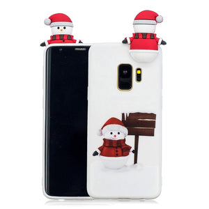 Phone Case - 3D Cute Cartoon Christmas Soft TPU Case For Samsung Note9 Note8 S9 S9 Plus S8 S8 Plus S7 S6 Edge