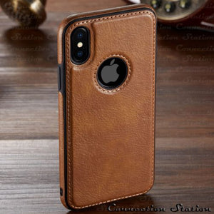 Phone Case - Luxury Ultra Thin PU Leather Protective Case For iPhone X XR XS Max 8 7 6 6s Plus