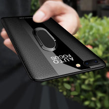 Load image into Gallery viewer, Phone Case - Luxury Soft Silicone Leather Case With Magnetic Ring Stand For iPhone X XR XS Max 8 7 6 6S Plus