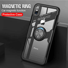 Load image into Gallery viewer, Phone Case - Luxury Megnetic Ring Shockproof Soft Silicone Case For iPhone X XR XS XS Max
