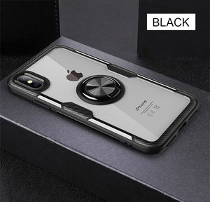 Phone Case - Luxury Megnetic Ring Shockproof Soft Silicone Case For iPhone X XR XS XS Max