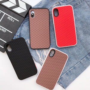 Phone Case - Soft Silicone Waffle Shoe Case For iPhone X XR XS MAX 8 7 6 6S Plus