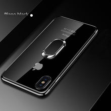 Load image into Gallery viewer, Phone Case - Plating Magnetic Bracket Silicone Cover For iPhone X XR XS MAX 8 7 6 6s Plus