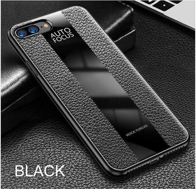 Phone Case - Luxury Shockproof PU Leather Glass Cover Case For iPhone X XR XS Max 8 7 6 6s Plus