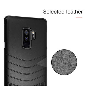 Phone Case - Luxury Shockproof Rugged PU Leather Case For Samsung Galaxy S8 S9 S10 Plus S10e Note 8 9