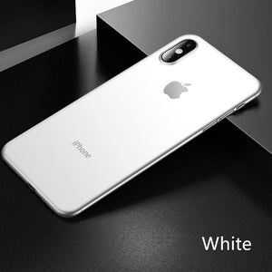Phone Case - 0.26mm Ultra Thin Shockproof Matte Case For iPhone X XR XS Max 11 Pro Max 8 7 6 6s Plus