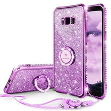 Load image into Gallery viewer, Phone Case - Bling Diamond Ring Holder Case For Samsung S9/S9+/S8/S8+/Note8