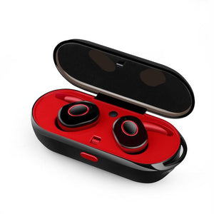 Earphone - Anti-Drop Wireless Stereo Twins Earphone With Battery Box