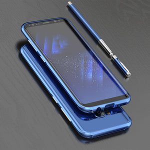 Phone Case - Luxury Slim Metal Aluminum Protective Bumper For Samsung