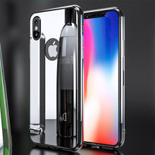 Load image into Gallery viewer, Phone Case - Luxury Bling Mirror Soft TPU Cover + Tempered Glass For iPhone X