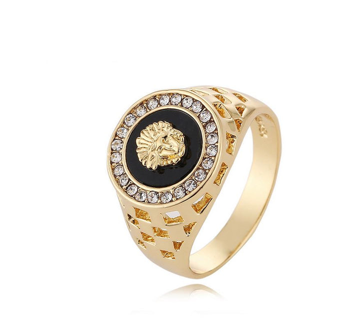 18K Gold Medusa Ring
