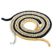Single Row Tennis Chain (Gold,Silver, Black)